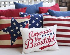 Adding throw pillows full of red, white and blue and the stars and the stripes to your home is an easy way to get festive this summer! Explore all of Kirkland's styles to find the one that fits with your decor.