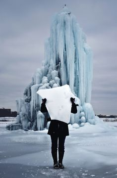 The ice tree on Belle Isle - one of my favorite Detroit traditions.
