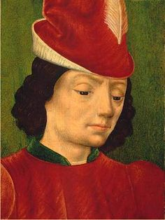 """Young Man """"1480's"""" (UA French/ Master of Moulins/Jean Hey?) Lawrence Steigrad Fine Arts, NY"""