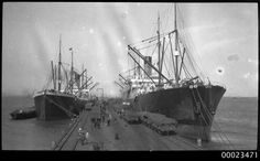 PERSIC on left and CERAMIC on right, both of the White Star Line. (3307507923) - White Star Line - Wikipedia German Submarines, Wikimedia Commons, Sailing Ships, Police, The Past, Ceramics, Stars, Ceramica, Pottery