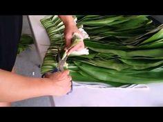 How to make a ti leaf skirt - YouTube