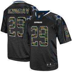 NFL Mens Elite Nike Dallas Cowboys #29 DeMarco Murray Camo Fashion Black Jersey $129.99