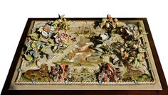 """I think this is my favorite description ever of a piece of stumpwork: """"like an exquisite 17th century pop-up book"""". This piece has been off..."""