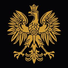 "Gold Polish Eagle Symbol Emblem Coat Of Arms Vinyl Decal Sticker 5"" #Oracal"