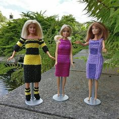 3 Barbie dresses + a mini-tutorial on using the Fibonacci Sequence.