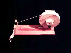 A DIY spinning wheel.