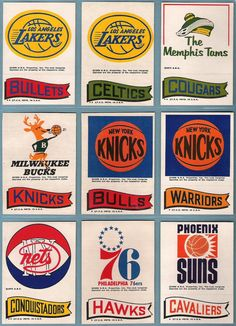 vintage basketball, I want t-shirts for all of these teams!!!