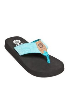 Yellow Box Teal Lavana Platform Flip Flop Sandalss