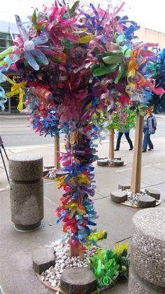 Dale Wayne - turning plastic bottles into shimmery forests; Grand Rapids, MI (2011)