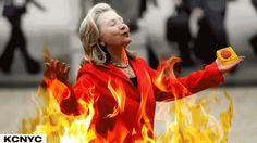 hillary gifs | hillary-flames-gif.gif