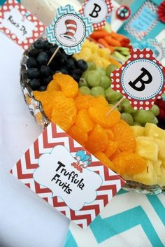 Super Baby Shower Ideas For Twins Food Dr. Seuss 19 Ideas Super Baby Shower Ideas For Twins Food Dr. Dr Seuss Party Ideas, Dr Seuss Birthday Party, Twin First Birthday, Baby Birthday, First Birthday Parties, Birthday Ideas, Birthday Banners, Birthday Invitations, Dr Seuss Graduation Party