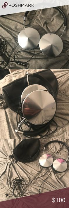 FRENDS Headphones Never worn black & silver FRENDS headphones. Comes with carrying case. Frends Other