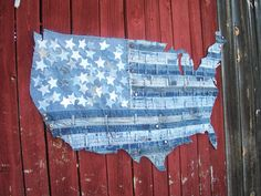 Let's Band Together - handmade piece of Americana. $225.00, via Etsy.