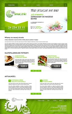 "Bistro ""Ale Smacznie"" main page design"