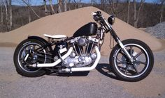 Crisp 74 Ironhead KR replica hard tail build, customized by a home builder.