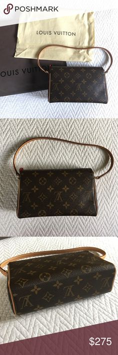Louis Vuitton purse Small and luxurious, LV purse in MINT condition. Used a handful of times, kept in protective bag, not a blemish to be found. Genuine leather and classic LV print, purchased at Saks. Leather interior. Perfect for date night or whenever you're being your most fabulous self. Louis Vuitton Bags Mini Bags