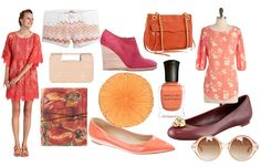 Color inspired by peaches.