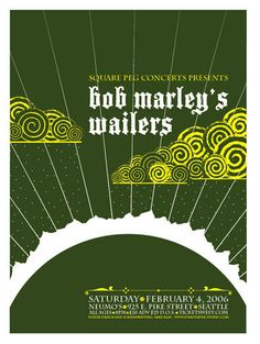 60 Concert Posters From Ten Amazing Artists — Smashing Magazine Rock Posters, Band Posters, Concert Posters, Music Posters, Gig Poster, Revolutionary Artists, Could You Be Loved, The Wailers, Music Artwork