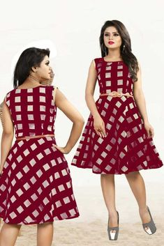 New bollwood Magent color Party Wear Western Skirt modal chanderi fabric Pakistani Party Wear, Indian Party Wear, Pakistani Bridal, Indian Wear, Western Wear Dresses, Western Gown, Western Wear For Women, Fit N Flare Dress, Fit And Flare