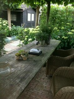 We have a great old 10-1/2 foot garden or porch table like this one