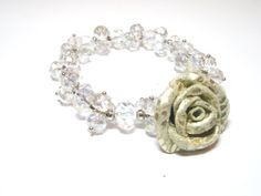 Leather Roses  Flower Bracelet  Free shipping by NYLeatherRose, $21.00