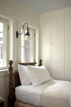 soft cozy bedroom grey | There is something simple and charming about this room. I think it's ...