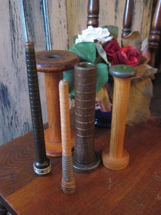 Vintage Wooden Industrial Spool and Bobbin by preciousplaytime, $28.80