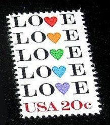 LOVE Stamp Set of 50 Unused Vintage Postage Stamps by TreasureFox, $27.50
