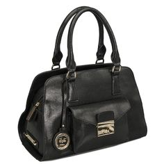 d2dd746e8575 This refined Versace 19V69 Italia Marlow Medium Satchel boasts a top zip  closure and internal zipper
