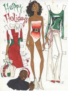 Paperdoll by me (Renaldo Barnette) My Christmas card for 2014
