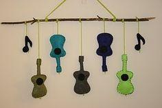 Guitar Felt Mobile