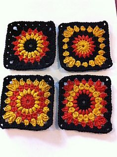 Sunburst Granny square.. I Love all the different looks from one pattern!..free pattern!