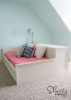 DIY Dresser Platform Bed