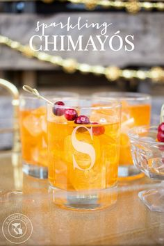 Sparkling Chimayo Cocktail - a festive sparkling drink that is easy to make and perfect to serve at holiday parties!