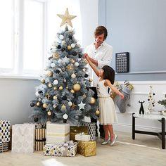 Target Glittered Grey Christmas Tree 183cm