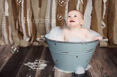 After the cake smash comes the bubble bath