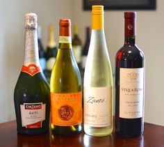 Moscato wine: deliciously sweet,  slightly sparkling wine