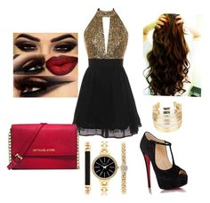 """About Last Night"" by amourb on Polyvore featuring Christian Louboutin, Michael Kors, WithChic and Style & Co."