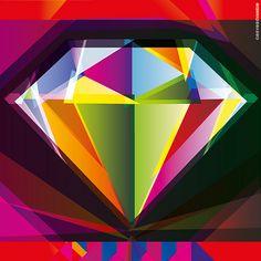 diamante Geometry, Abstract, Artwork, Colors, Mandalas, Work Of Art