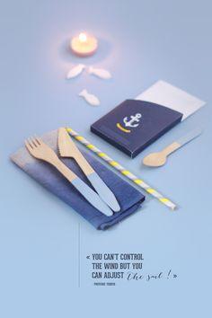 DIY picnic set in navy