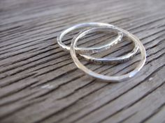 Fine silver skinny stacker ring one ring by beadsoul on Etsy, $12.00