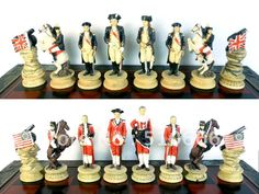 Revolutionary war theme chess in inimitable design.made in resin,best gift for friend/chess pieces