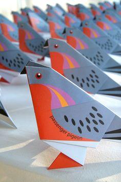 Origami Passenger pigeon