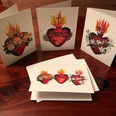 Family Heart Tattoos, Sacred Heart Tattoos, Catholic Crafts, Catholic Art, Jesus Jose Y Maria, Catholic Tattoos, Jesus Mary And Joseph, Easy Writing, Jesus Pictures