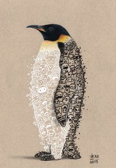Image of Penguin Doodle Print