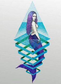 Sirena en Pecera