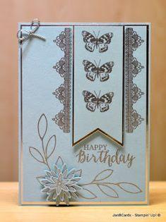 JanB Handmade Cards Atelier: Lace Trim Butterflies Video