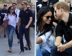 Meghan Markle and Prince Harry hold hands in FIRST appearance at Invictus Games | Royal | News | Express.co.uk