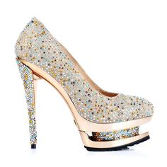 Image detail for -Christian Louboutin Crystal Shoes Banquet Shoes Golden,Pumps
