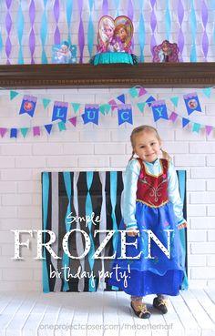 Frozen-birthday-party Frozen Birthday Party, 80th Birthday, Birthday Parties, Birthday Ideas, Shower Invitations, Birthday Invitations, Frozen Banner, Olaf Cake, Frozen Decorations